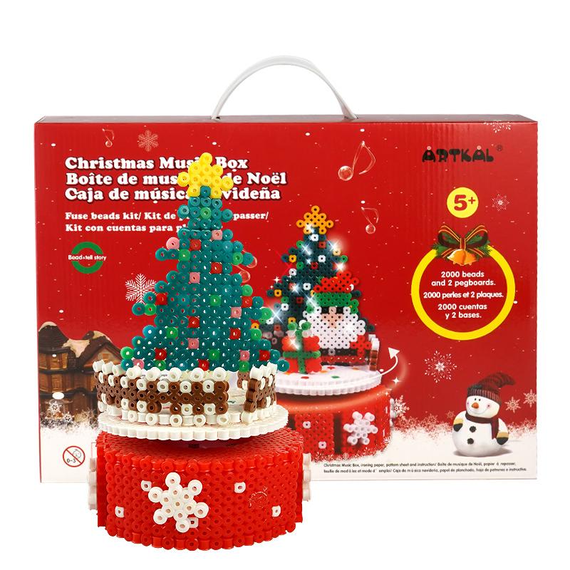 Amazon hotsales Artkal beads christmas tree Non-toxic DIY Various Colours Educational Kid Toys hama beads