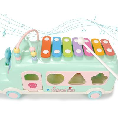 Новинка 2021, детские пластиковые игрушки для детей, Обучающие игрушки, музыкальный автобус