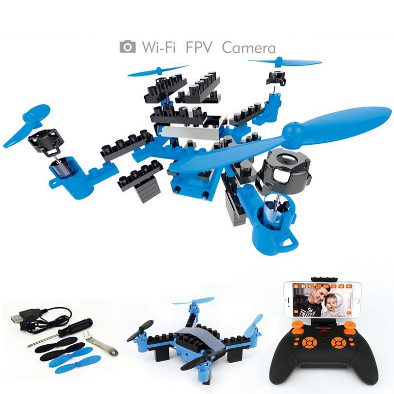 Сборный самодельный конструктор с дистанционным управлением самолет Квадрокоптер Wi-Fi Дрон Воздушная фотография игрушка для мальчика