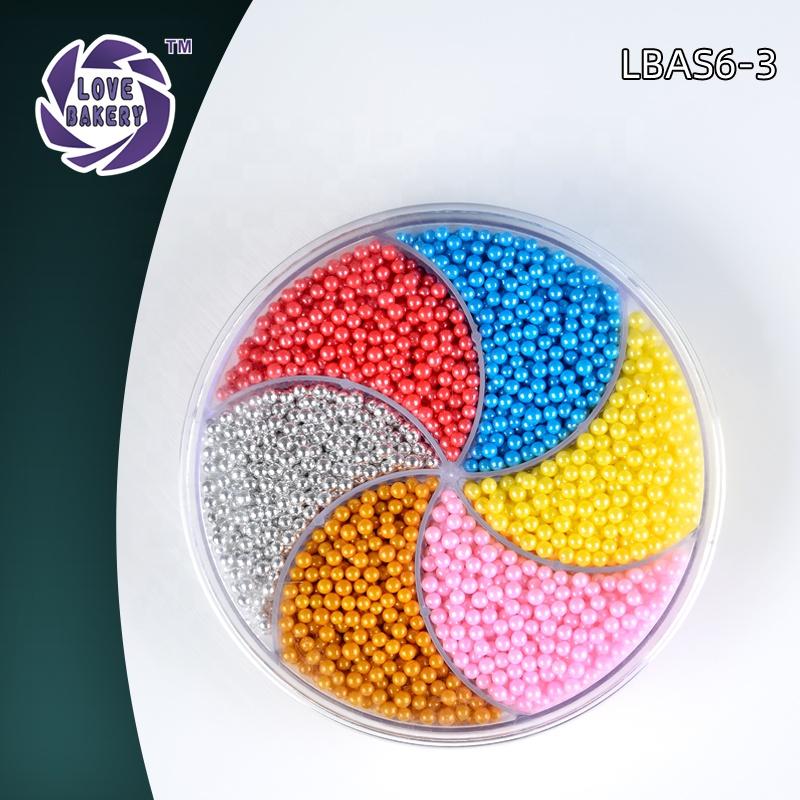 Love Bakery Wholesales Colorful Sugar Pearls Sprinkles For Bakery Decoration Ingredients