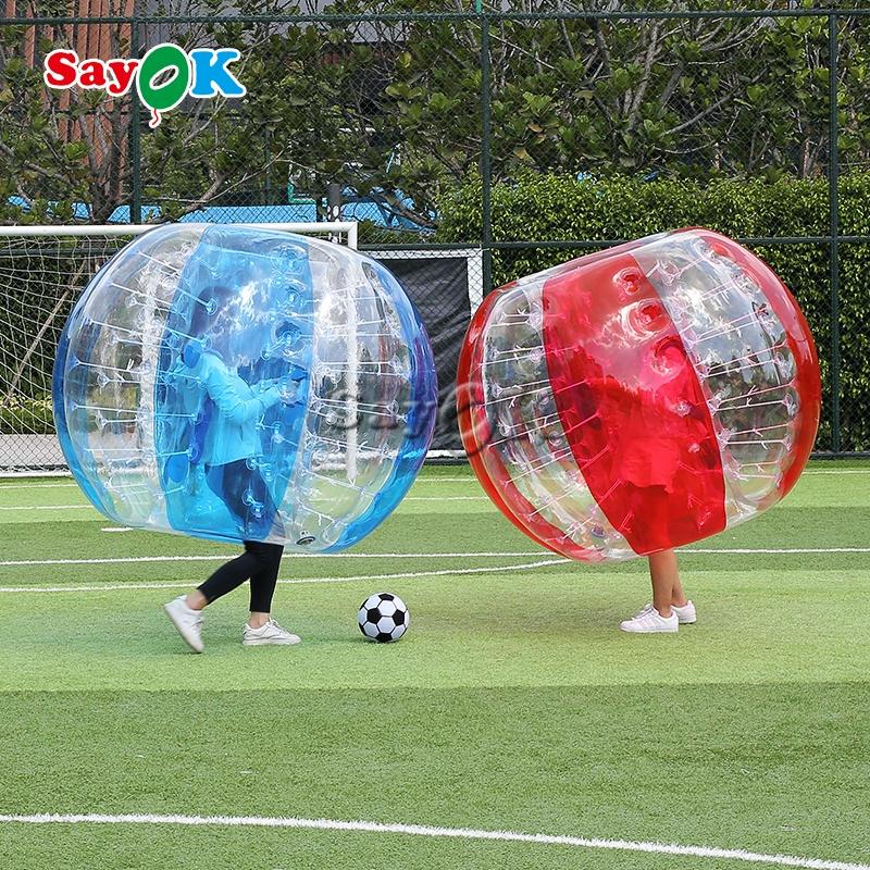 Большие Пузырьковые мячи из ПВХ, прозрачный мяч, надувной футбольный мяч для взрослых
