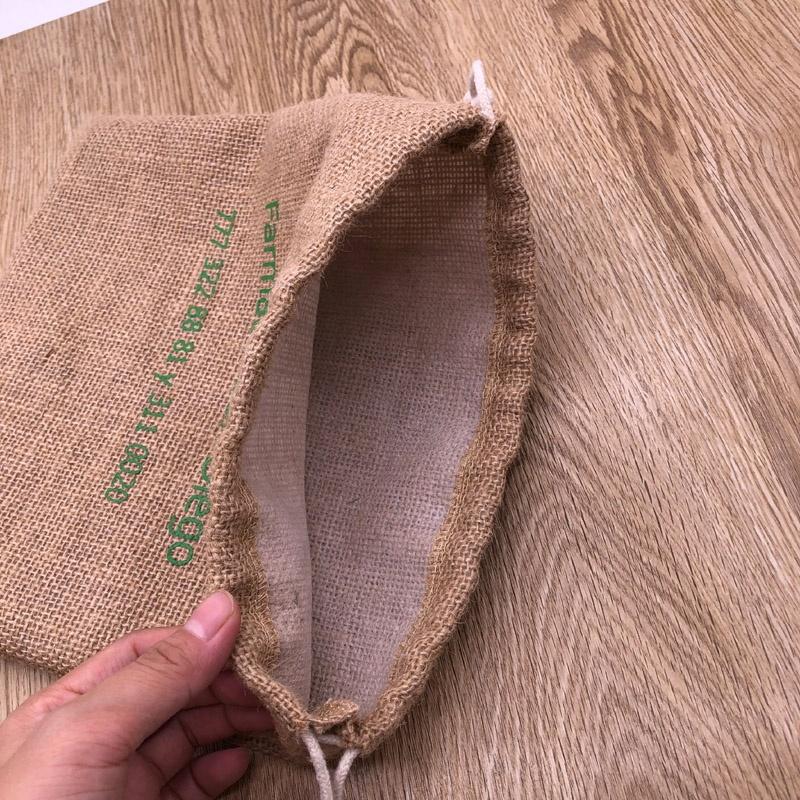 Биоразлагаемый джутовый мешок для упаковки