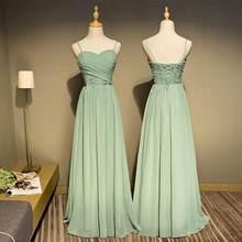 Женское длинное платье невесты, элегантное зеленое платье для свадебной вечеринки размера плюс, шифоновое платье для подружки невесты на з...(Китай)