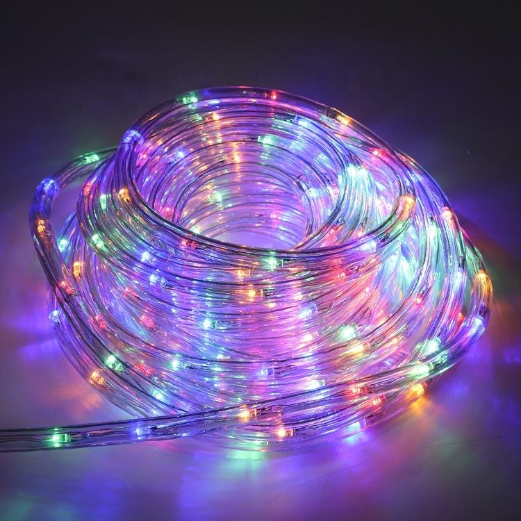 Уличная Рождественская светодиодная веревка, светодиодная веревка, круглая лента, холодное свадебное украшение, мотив, теплая белая светодиодная веревка для тематического парка