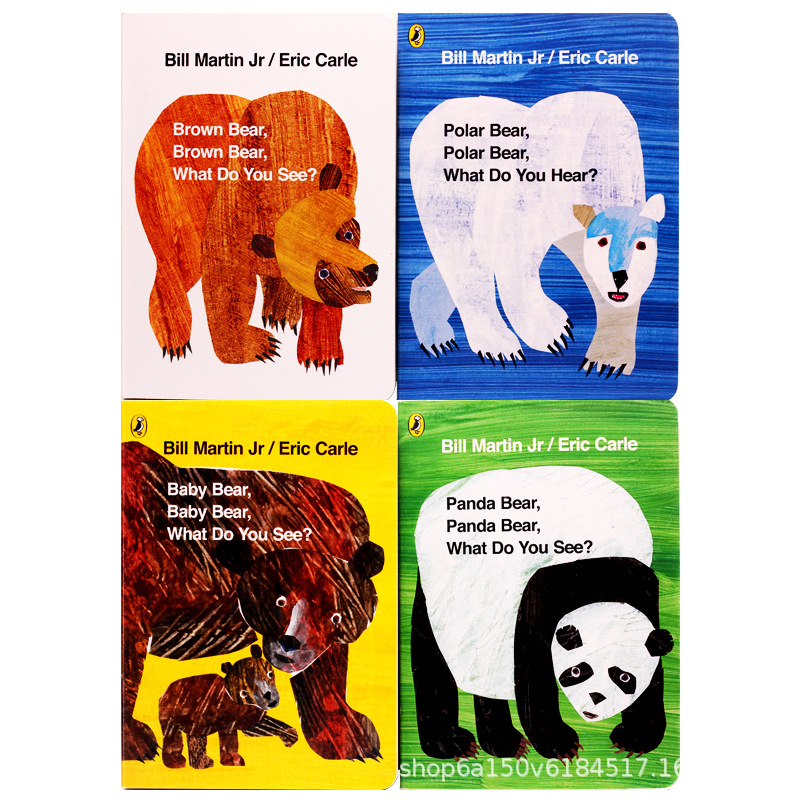 Eric Carle children book Brown Bear Collection 4 volumes boxed:Brown Polar Panda Baby Bear