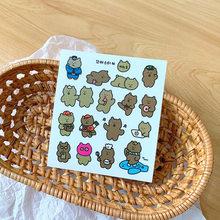 1 шт. милые наклейки на Дневник со смайликом Kawaii корейские стили Ins простые декоративные наклейки на печать канцелярские товары(Китай)
