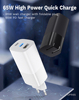 65W Travel Charger Adapter Fast phone Charger