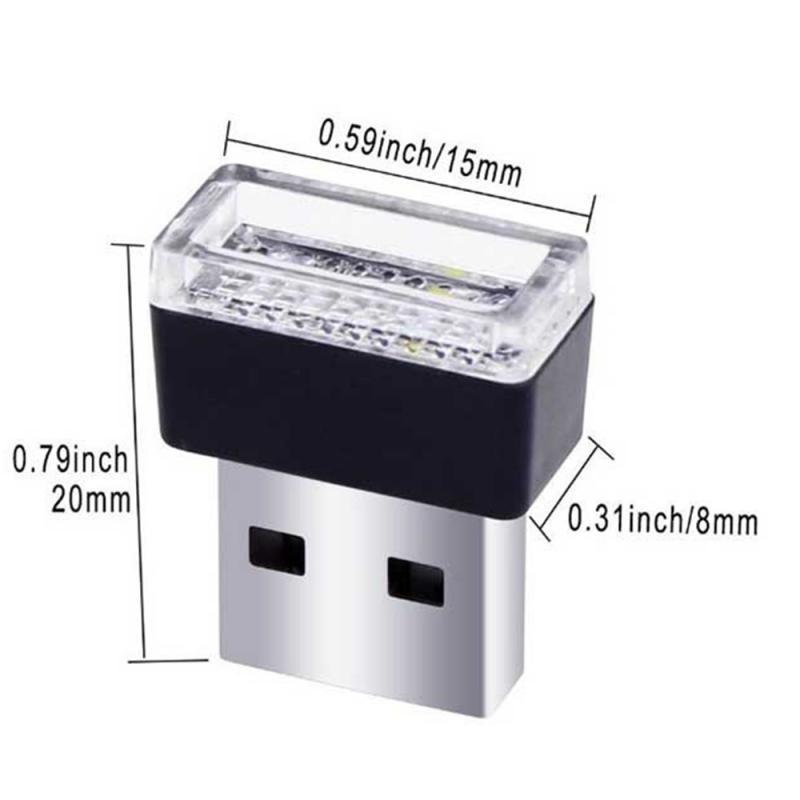 Universal Mini Flexible USB Car Atmosphere Lamp LED Light Interior Lamp Strip Neon Ambient light car Tube Light car led ambient