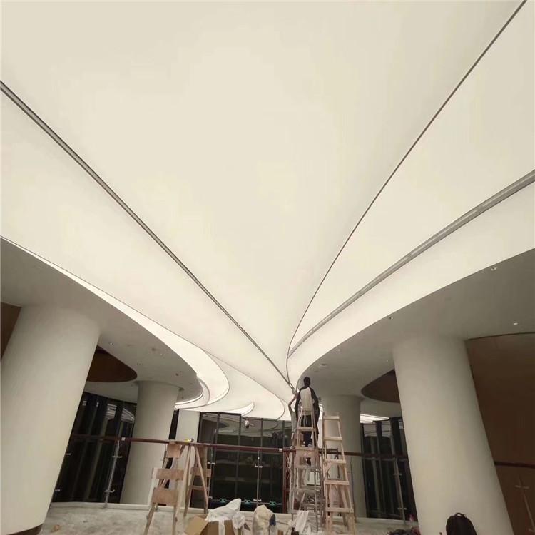 led translucide stretch lighting fabric false ceiling border designs