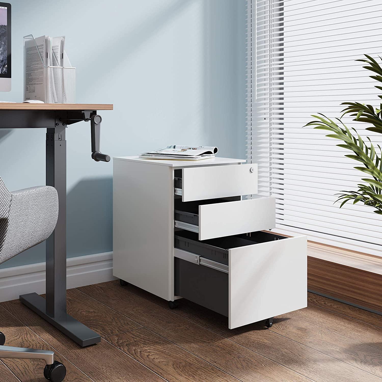 Office equipment mobile cabinet pedestal movable drawer cabinet metal filing cabinet with 3 drawers rollendearsip kantor kabinet