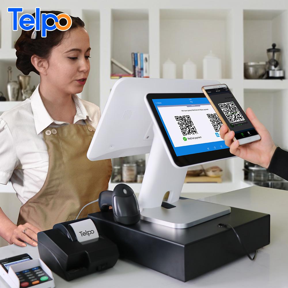 Telpo TPS680 машина для биллинга емкостный сенсорный экран Android машины POS-система для малого бизнеса