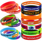 Rubber Wristbands No Minimum Order Custom Rubber Bracelets Custom Cheapest Silicone Wristbands With A Message