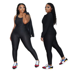 2020 High quality women fall and winter 3 piece outfits fitness clothing joggers workout wear yoga set women