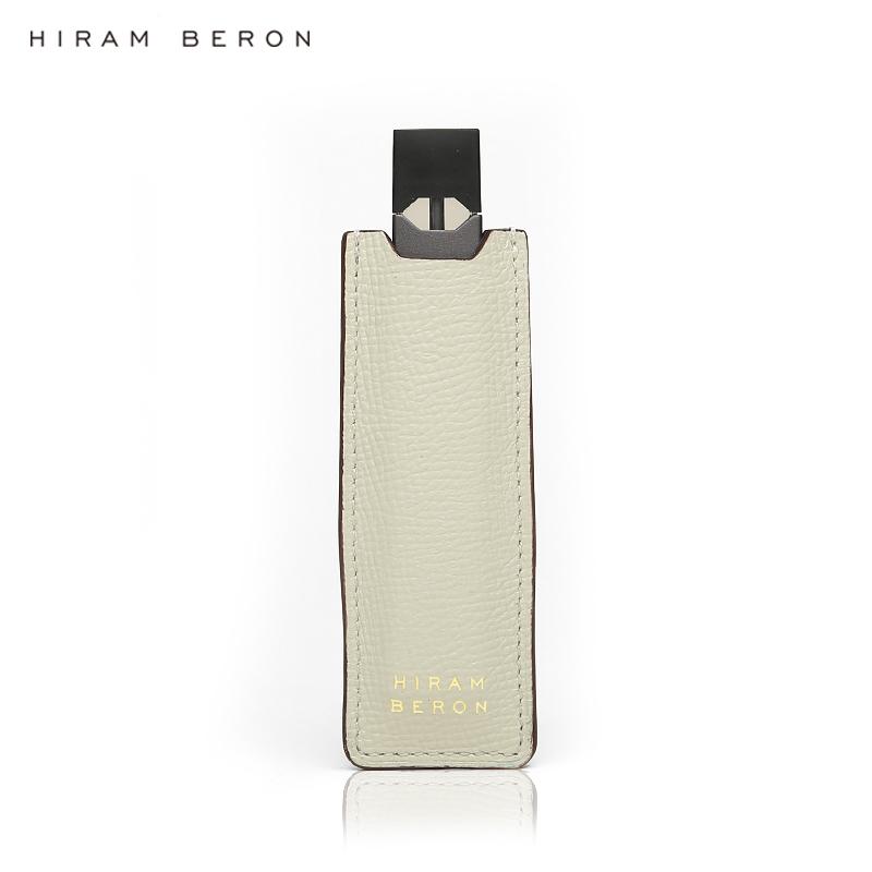 Hiram Beron Italian cow leather white color for juul case leather dropship wholesale - MrVaper.net