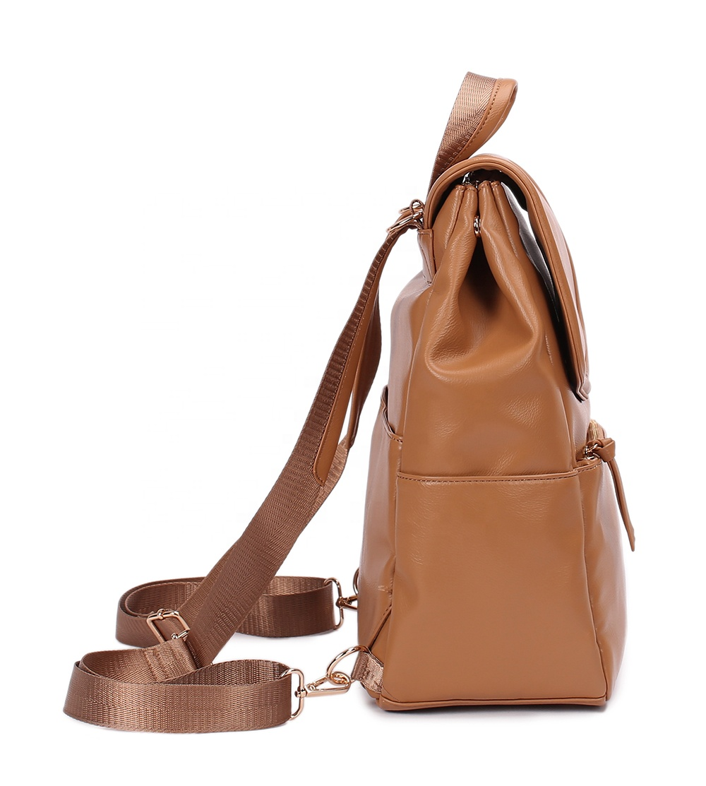 Multifunction diaper bags 4colors vegan leather baby bags for mom and dad waterproof leather changing bags include changing pad