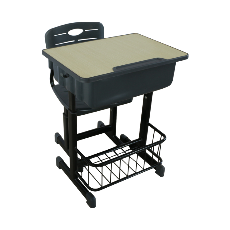 Steel school furniture for students with liftable tables and chairs