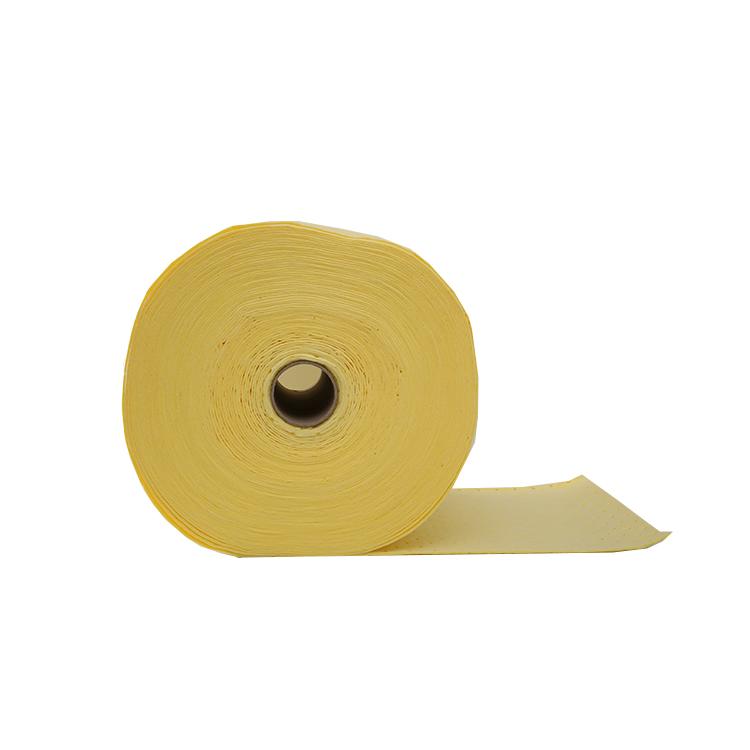 Желтый химический впитывающий рулон для промышленного контроля разлива