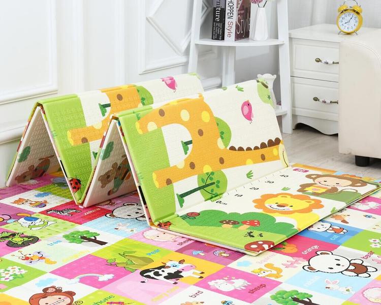 2021 Yiwu Kick Play ковер, детские Нескользящие Складные Водонепроницаемые игровые коврики для малышей