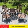 3-4 стула 1 Elizb круглого стола D90cm