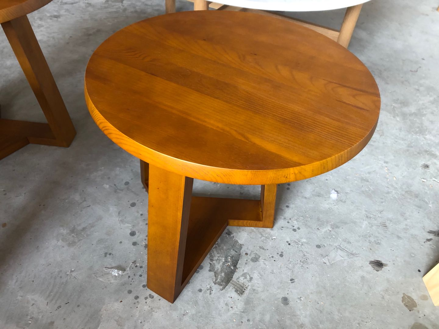 Restaurant cafe coffee table solid wood stained
