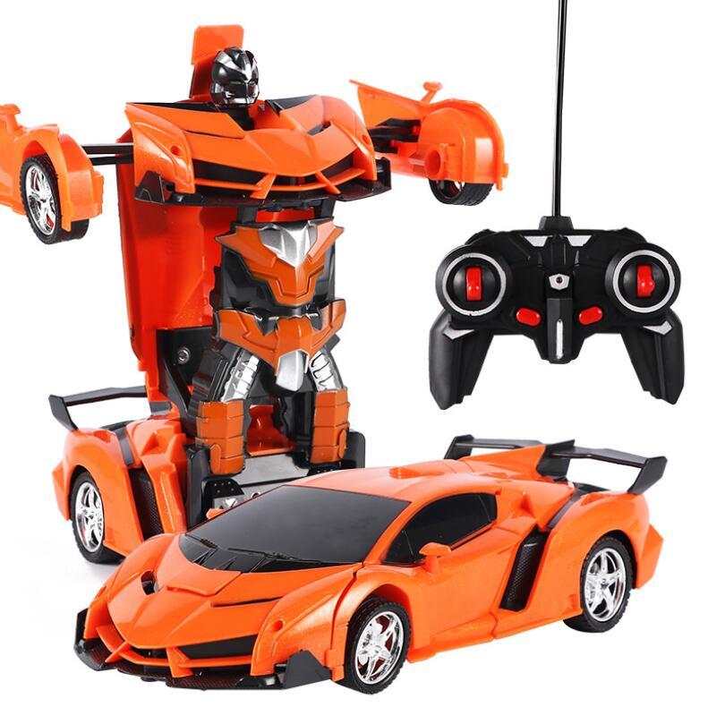 Масштаб 1:18 игрушечный трансформатор автомобиль с дистанционным управлением трансформация автомобиль игрушка с подсветкой