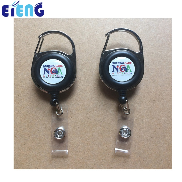 Рекламный милый выдвижной держатель для значков с индивидуальным дизайном, держатель для значков yoyo