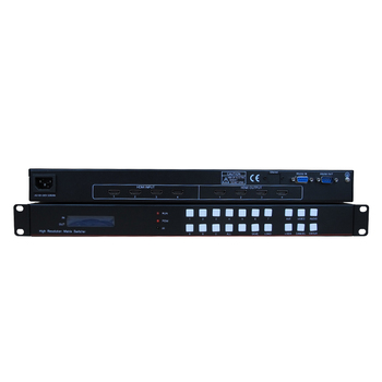 Complete production line High Definition Multimedia Interface 4X4 Matrix with Video RJ45 RS232 HDCP, High Quality matrix
