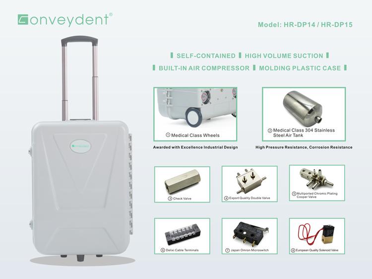 Dental Led Curing Light Instrument Portable Dental Unit With Air Compressor Ultrasonic Scaler