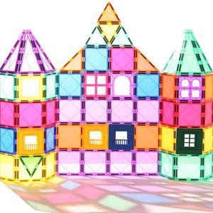 Магнитные строительные блоки в играх-конструкторах свежего цвета для детей