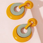 Resin Earring European And American Circle Acrylic Resin Personality Earring