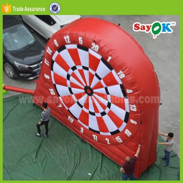 Красный/черный липкий футбольный мяч для надувной дартс, магнитный двухсторонний надувной футбольный Дартс