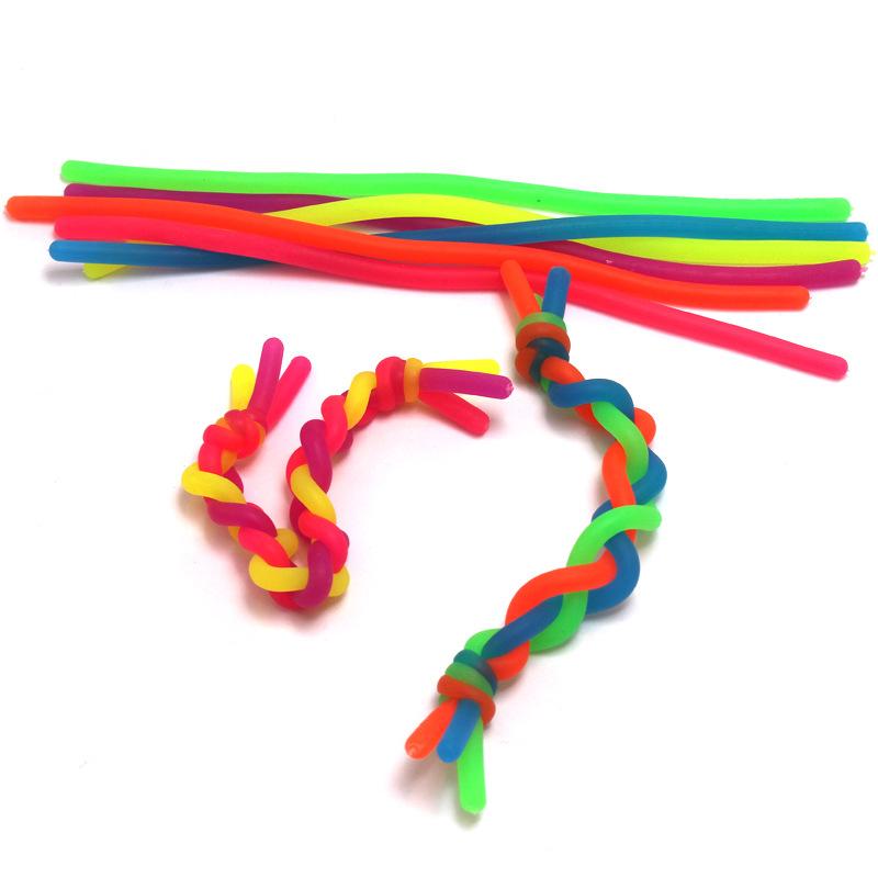 Эластичная лента, обезьянка, лапша, волнистые Сенсорные игрушки, БФА, фталат, латекс, растягивается от 10 дюймов до 8 футов, 19 см, 0,5 см