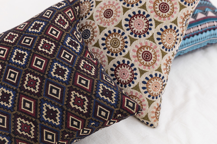 2021, жаккардовая подушка в богемном стиле с геометрическими полосками из синели для постельного белья