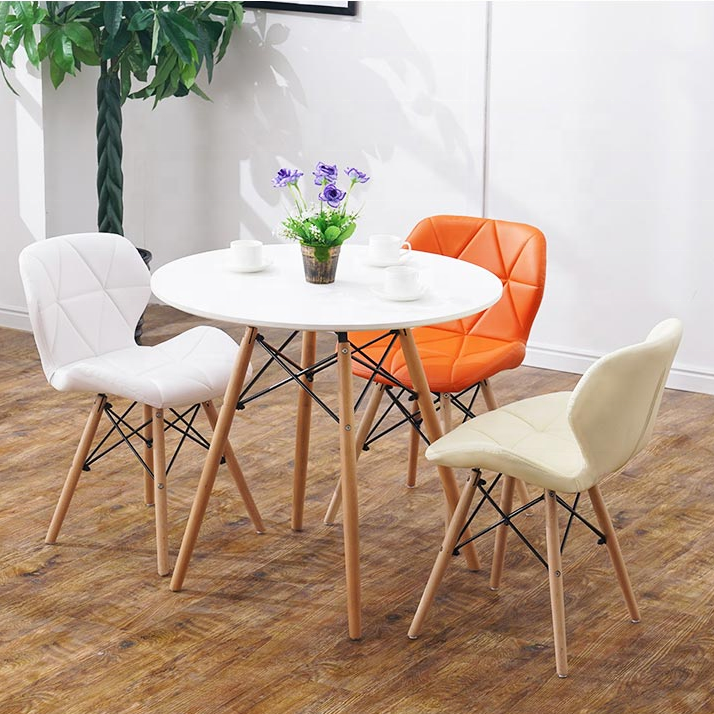Modern Glass Dinning Table Set Dining Room Furniture Mesas Comedor 4 Chairs Round Dining Table Set Buy Meja Makan Round Glass Dining Table And 4 Chairs Tisch Mesas Y Sillas De Comedor