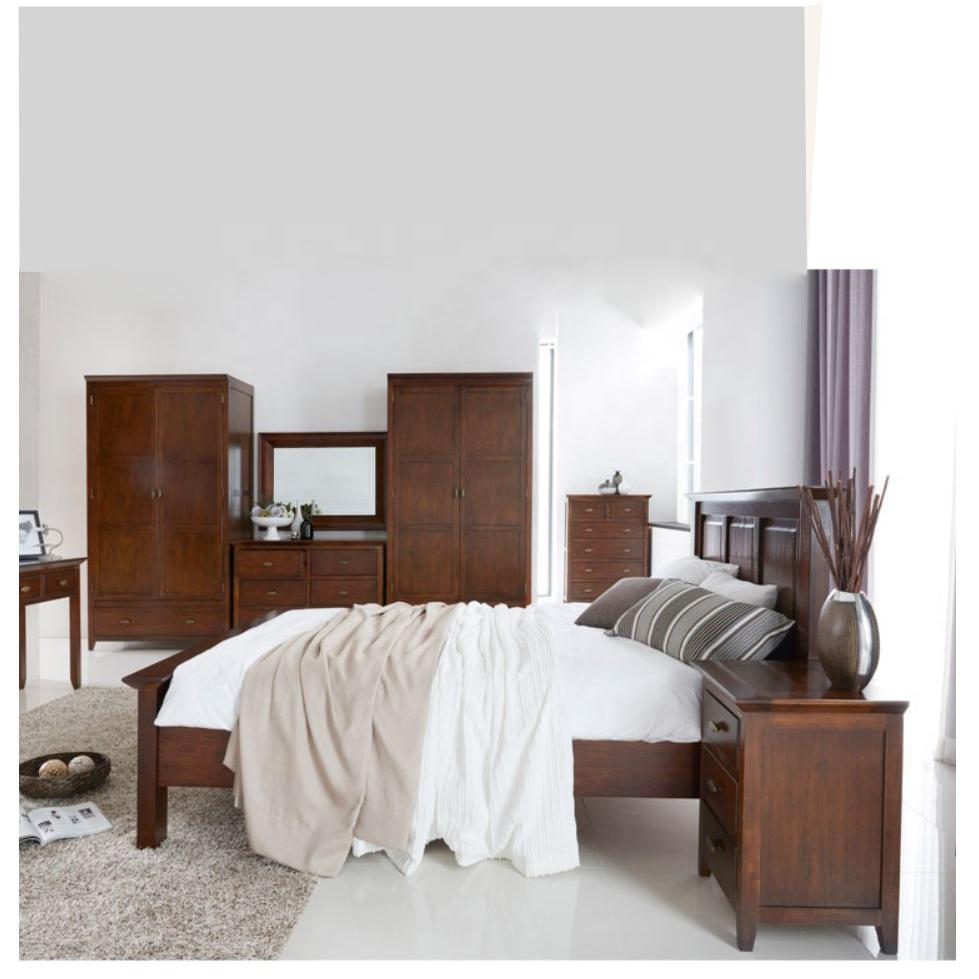 Vietnam Super Quality Online Bedroom Furniture Modern High Headboard Solid Acacia Wood Bed King Size Buy Wood Bed King Size King Size Wood Bed Frame Modern Bedroom Furniture Set Product On Alibaba Com
