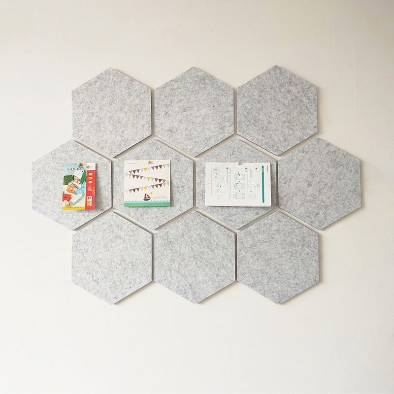Wall Tiles Board Felt Self-adhesive Bulletin Memo Board Message Board Colorful Hexagon Felt Fabric with Push Pins HC- Rectangle - Yola WhiteBoard   szyola.net