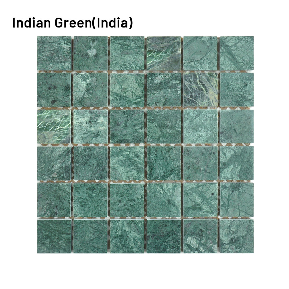 outdoor classic modern waterline swimming pool mosaic tile natural green stone marble mosaic tile for swimming pool tile