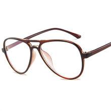 Модные ретро очки, оправа для женщин и мужчин, большие оправы для очков, прозрачные линзы, поддельные очки(Китай)