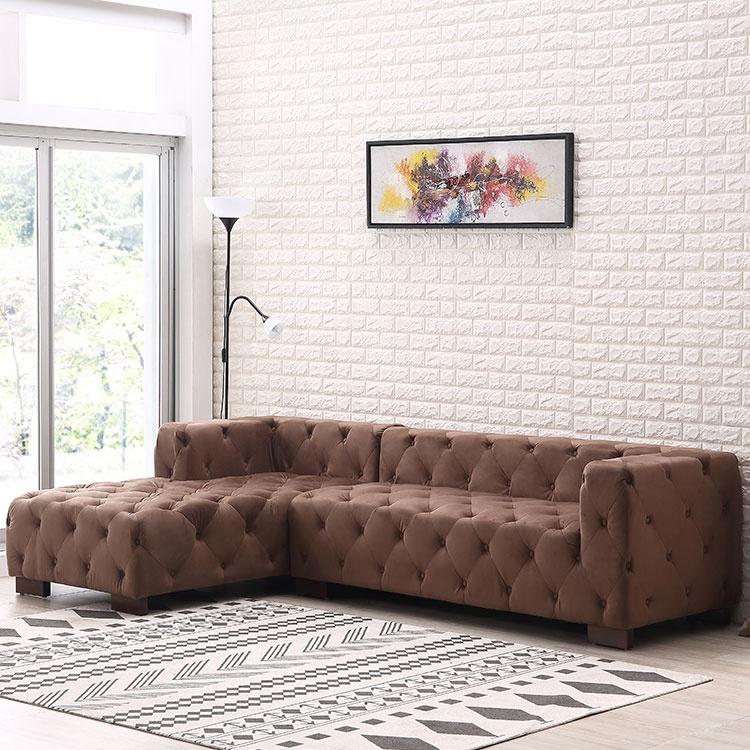 New modern luxury brown big corner lounge sofa furniture set