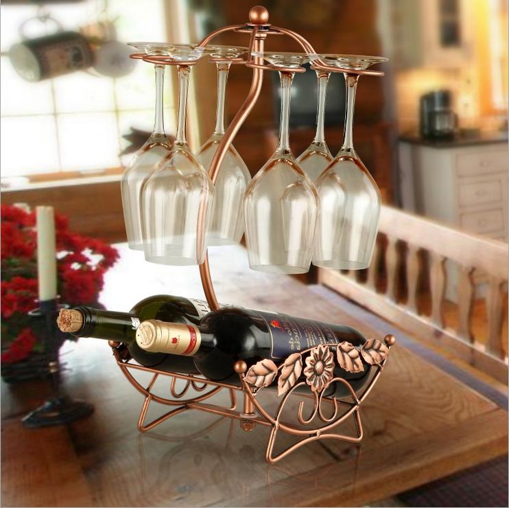 Creative Metal Single Bottle Wine Rack Unique Shape Tabletop Wine Holder Hanging Wine Glass Rack Buy Wine Bottle Rack Wine Rack Holder Metal Wine Rack Product On Alibaba Com