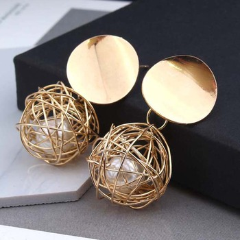 Fashion Gold Pearl Earrings For Women Wholesale N99031