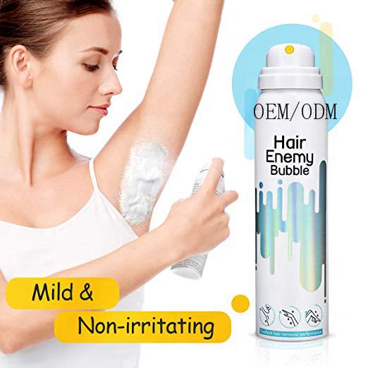 Частная этикетка спрей для удаления волос безболезненный распылительное пенопластовое мусс кремы