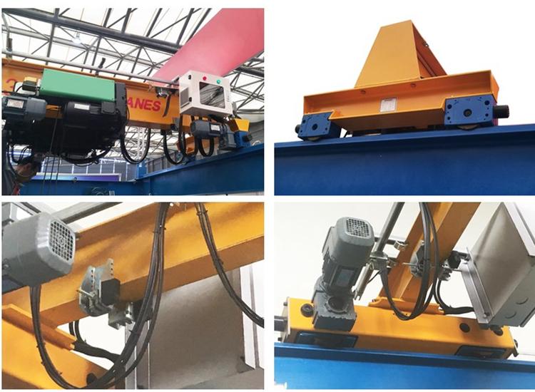 7.5 ton overhead crane with DRS wheel block