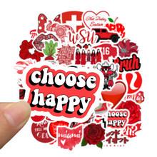 50 шт./лот, Мультяшные красные наклейки для девочек в стиле INS Vsco, для ноутбука, скейтборда, багажа, холодильника, ноутбука, игрушки, наклейки F5(Китай)