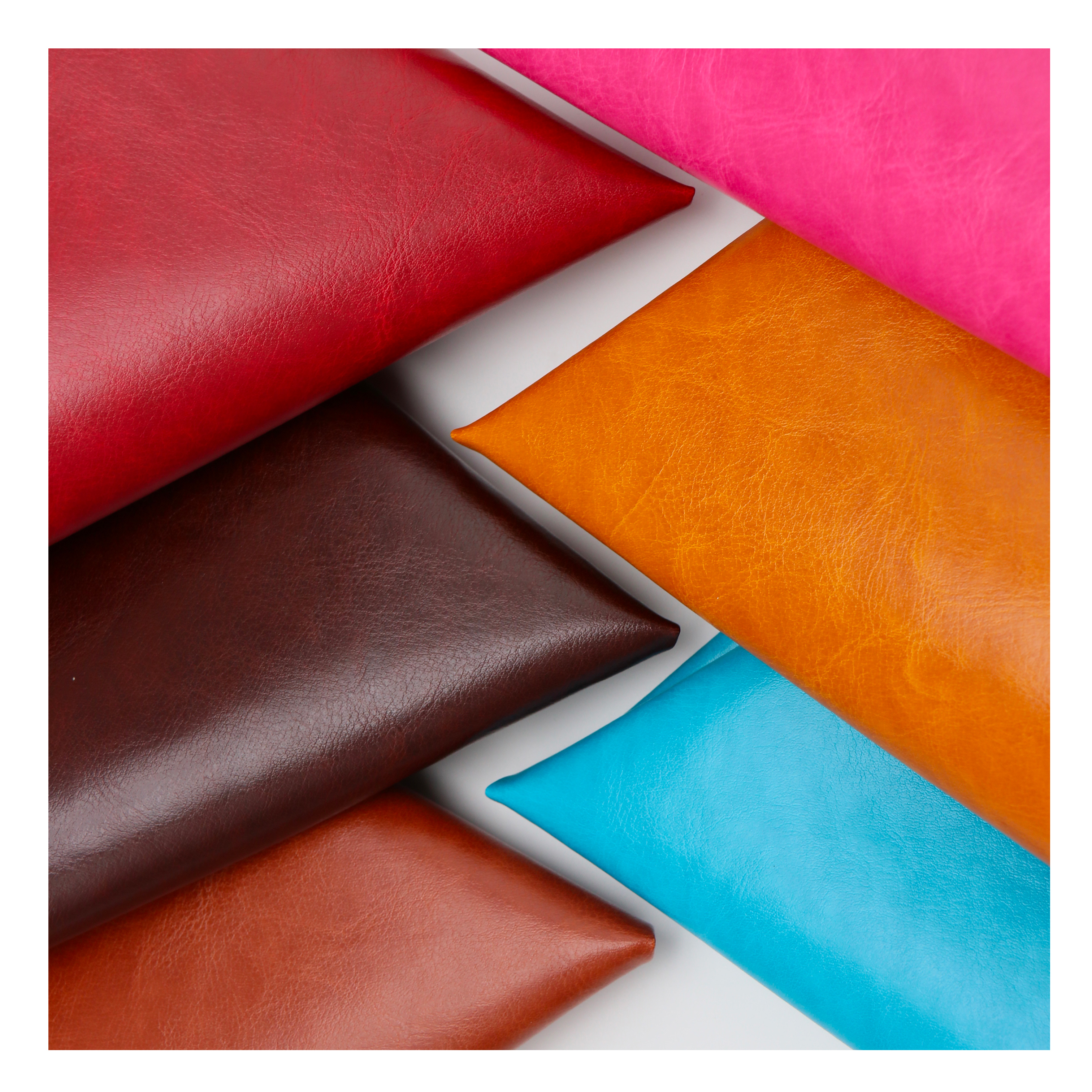Classical texture R64 grain PU leather fabric for gift box glasses case wine box packaging