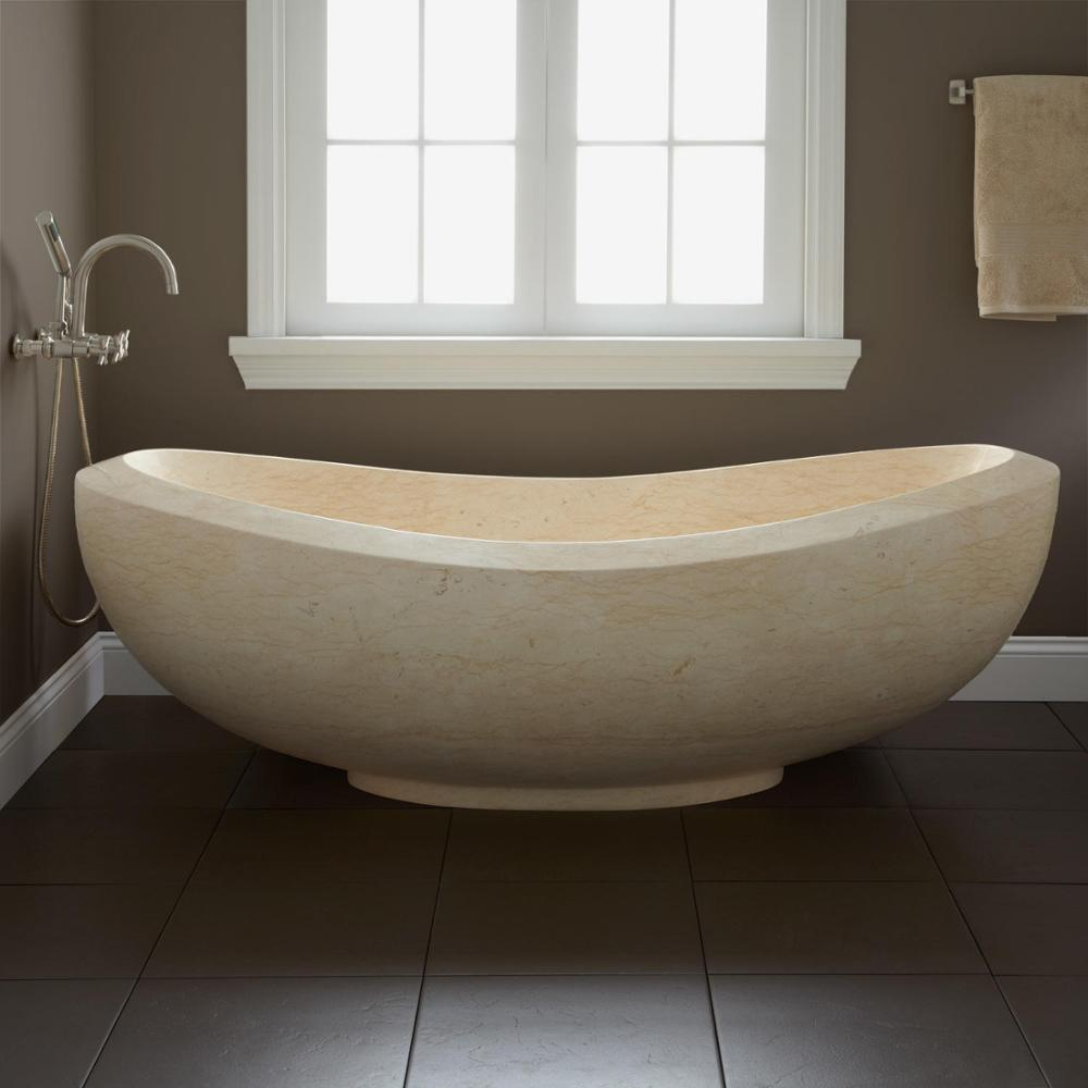 Beautiful Design Natural Black Stone Bathroom Bathtub