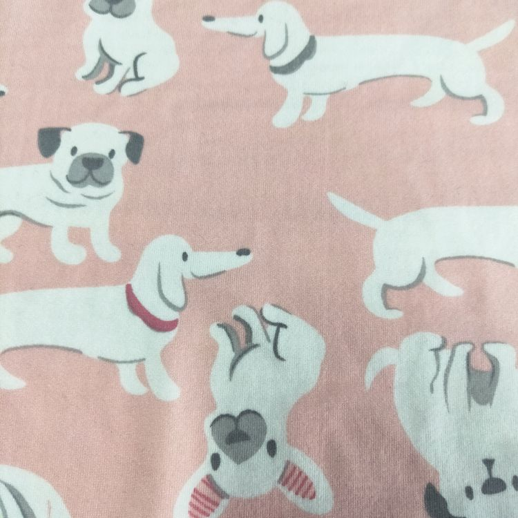 DBP polyester milky custom designs DTY double brushed poly print fabric