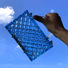 Crystal Clutch Bag Summer Thick Blue Crystal Checkered Clear Clutch Bag Acrylic Purse