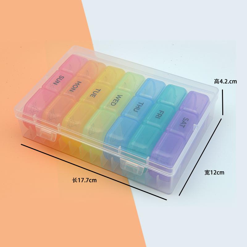 7 дней для медикаментов 21 коробки неделю, упаковка и коробка для хранения, пластиковая коробка из полипропилена