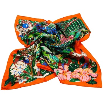 Customize Handmade Lady Screen Printing 100% Silk Scarf